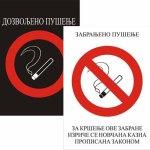 Zabranjeno/Dozvoljeno pušenje A4