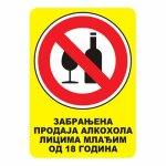 nalepnica zabranjen alkohol
