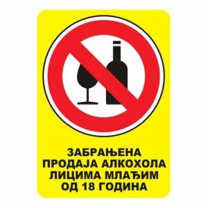 nalepnica alkohol